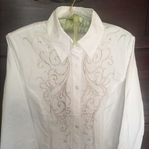 Cabi White  long sleeve shirt M